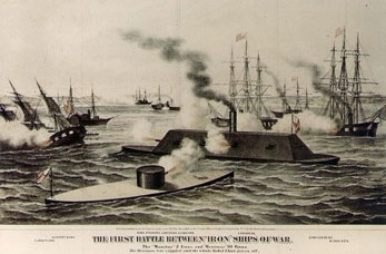 Two Ironclad battleships